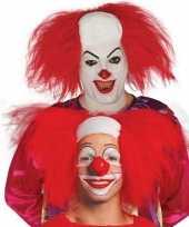 Vergelijk rode horror clown pruik voor volwassenen prijs