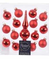 Vergelijk roden kerstballen en piek set voor mini kerstboom prijs