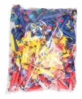 Vergelijk roltongen rood blauw en geel 144 stuks prijs