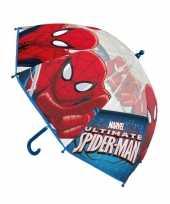 Vergelijk rood blauwe spiderman paraplu voor jongens prijs