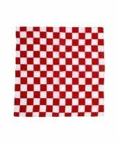 Vergelijk rood met wit geblokte feest bandana prijs
