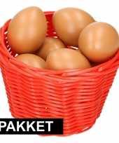 Vergelijk rood paaseieren mandje met bruine eieren prijs