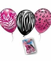 Vergelijk roze en zwarte dierenprint ballonnen prijs