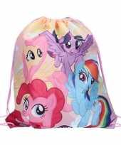 Vergelijk rugtas gymtas gekleurd my little pony met rijgkoord prijs