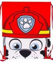 Vergelijk rugtas gymtas rood wit paw patrol met rijgkoord prijs