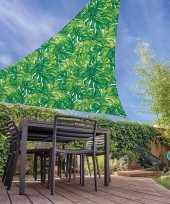 Vergelijk schaduwdoek groen palmblad driehoekig 3 6 x 3 6 x 3 6 meter prijs