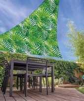 Vergelijk schaduwdoek groen palmblad driehoekig 3 x 6 meter prijs