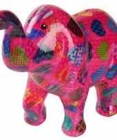 Vergelijk spaarpot olifant met hartjes print 20 cm prijs
