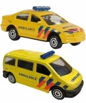 Vergelijk speelgoed 112 ambulance set 2 delig prijs