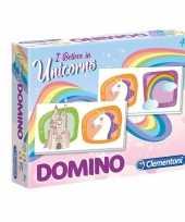 Vergelijk speelgoed domino spel met eenhoorns prijs