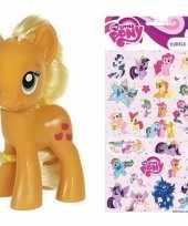 Vergelijk speelgoed my little pony plastic figuur applejack met stickers stickervel prijs