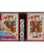 Vergelijk speelkaarten en dobbelstenen set prijs