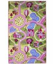 Vergelijk speelkleed voor meiden roze dorpje 100 x 165 cm prijs
