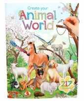 Vergelijk stickerboek dieren wereld thema voor kinderen prijs