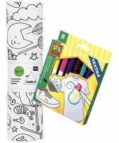 Vergelijk stof om op te kleuren met textielstiften voor kinderen prijs 10158239