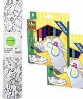 Vergelijk stof om op te kleuren met textielstiften voor kinderen prijs
