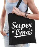 Vergelijk super oma cadeau tas zwart katoen prijs
