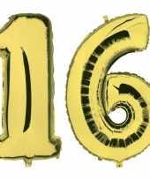 Vergelijk sweet 16 leeftijd helium folie ballonnen goud feestversiering prijs