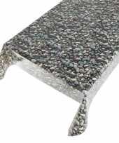 Vergelijk tafelkleden tafelzeilen met stenen motief 140 x 245 cm rechthoekig prijs