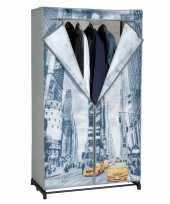 Vergelijk tijdelijke mobiele kledingkast garderobekast new york met rits 156 cm prijs