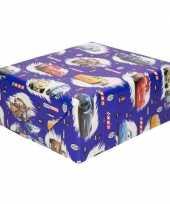 Vergelijk verjaardag kadopapier disney cars blauw 200 x 70 cm prijs 10160762