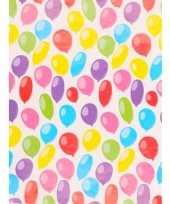 Vergelijk verjaardagscadeau inpakpapier ballonnen 70 x 200 cm prijs