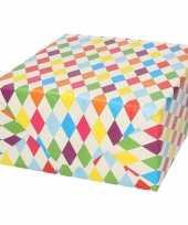 Vergelijk verjaardagscadeau inpakpapier ruitjes 70 x 200 cm prijs
