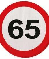 Vergelijk verkeersbord servetten 65 jaar prijs