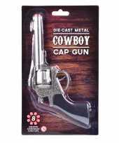Vergelijk verkleed sheriff cowboy wapen zilver 22 cm 8 schots prijs