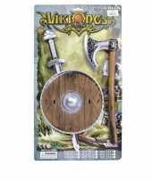 Vergelijk verkleed viking set zwaard bruin schild en bijl prijs