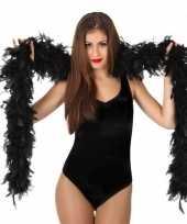 Vergelijk verkleed zwarte luxe boa 100 grams prijs