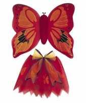 Vergelijk verkleedkleding rode vlinder vleugels voor meisjes prijs