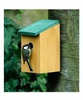 Vergelijk vogelhuisjes houten netkastje 22 cm prijs