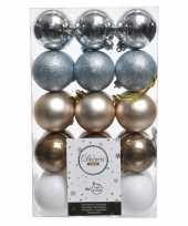 Vergelijk warm winter kerstballen set 6 cm prijs
