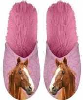 Vergelijk warme roze dieren slofjes pantoffeltjes bruine paarden voor dames volwassenen prijs