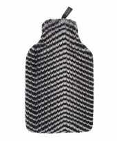 Vergelijk warmte kruik met nep bont hoes zebra 2 liter liter prijs