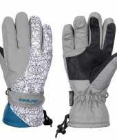 Vergelijk wintersport starling mirre handschoenen voor kinderen grijs wit petrol prijs