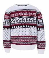 Vergelijk witte kersttrui voor kinderen nordic print prijs