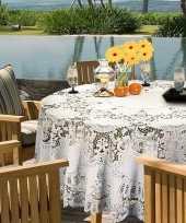 Vergelijk witte tafelkleden tafellakens 180 cm rond prijs