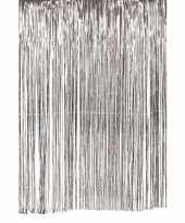 Vergelijk zilveren deurgordijn slierten feest versiering 100 x 200 cm prijs