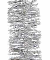 Vergelijk zilveren feestversiering folie slinger met sneeuw 200 cm prijs