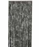 Vergelijk zwart anti insecten kattenstaarten gordijn 90 x 220 cm prijs