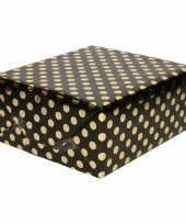 Vergelijk zwart folie geschenkpapier gouden stip 200 x 70 cm prijs