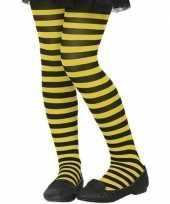 Vergelijk zwart gele 40 denier verkleed panty voor kinderen prijs