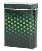 Vergelijk zwart groene metalen sigaretten blikjes prijs