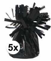 Vergelijk zwarte ballonnen gewichten 5 stuks prijs