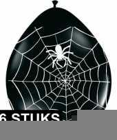 Vergelijk zwarte horror ballonnen met spinnenweb 16 stuks prijs