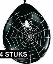 Vergelijk zwarte horror ballonnen met spinnenweb 24 stuks prijs