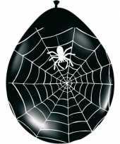 Vergelijk zwarte horror ballonnen met spinnenweb 8 stuks prijs
