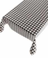 Vergelijk zwarte tafelkleden tafelzeilen ruit print 140 x 240 cm rechthoekig prijs